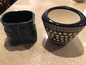 Polish pottery flower pot and jean pot for Sale in Arlington, VA