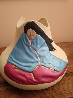 "KOPA art Pottery vase American Indian Design NAVAJO WOMAN signed 7"" for Sale in Sebastian, FL"