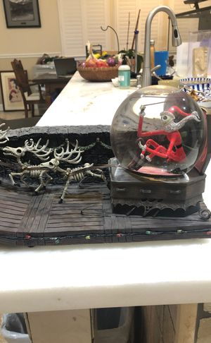 Rare nightmare before Xmas Santa jack skeleton globe Disney for Sale in Clovis, CA