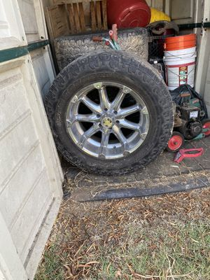 20 inch off road tires and rims for Sale in Sacramento, CA