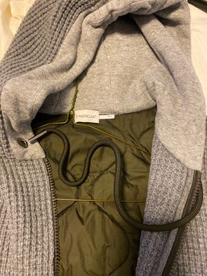 Moncler wool jacket hoodie. Mint for Sale in Taunton, MA