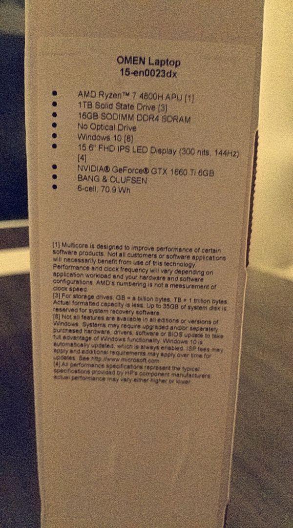 "HP OMEN - 15.6"" Gaming Laptop - AMD Ryzen 7 - 16GB Memory - NVIDIA GeForce GTX 1660 Ti - 1TB SSD - Mica Silver"