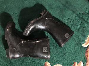 Used girls sz 4 UGG rain boots black for Sale in Granger, WA