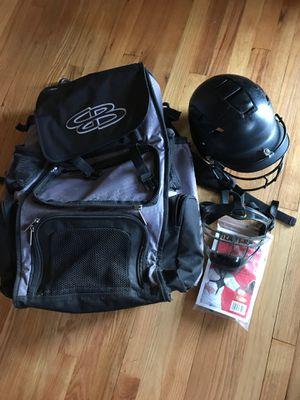 Schutz batting helmet , BOOMBAH backpack bat bag for Sale in Allison Park, PA