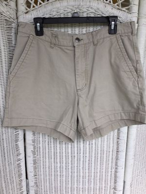 Mens Patagonia Organic Cotton Hiking Shorts Khaki Chino Mens Size 35 for Sale in San Antonio, TX