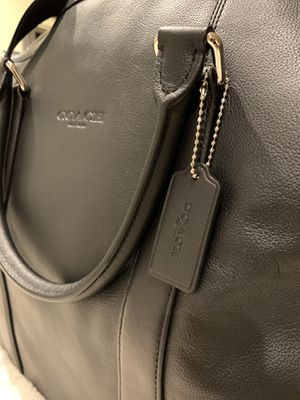 NEW w/ TAGS NWT COACH Voyager Sport Calf Leather DUFFLE Travel Bag BLACK for Sale in Middletown, CT