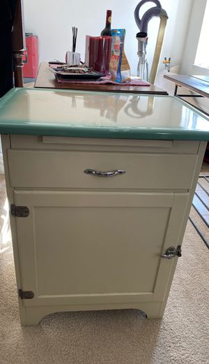 Antique refinished kitchen cabinet for Sale in Alexandria, VA