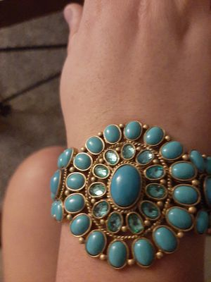 Suzanne Somers faux turquoise bracelet for Sale in Wichita, KS