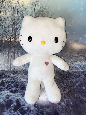 """Sanrio Hello Kitty white with pink purple heart 13"""" plush for Sale in Lakewood, CA"""