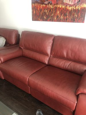 Italian Leather Power Recliners Sofa and power recliner Chair. for Sale in Los Angeles, CA