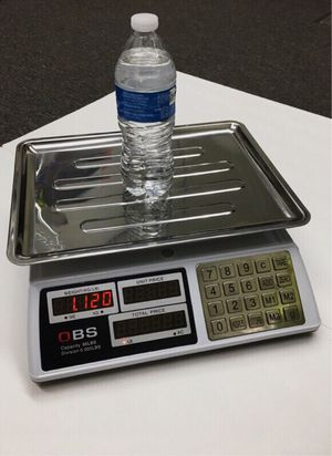 New in box 88lbs 40kg capacity 0.005lbs division accuracy market price conputing produce scale with rechargeable battery use wire or wirelessly for Sale in Whittier, CA