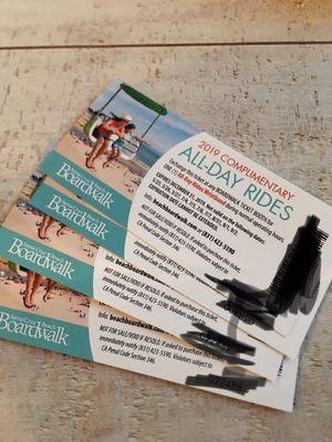 Boardwalk all day rides for Sale in Selma, CA