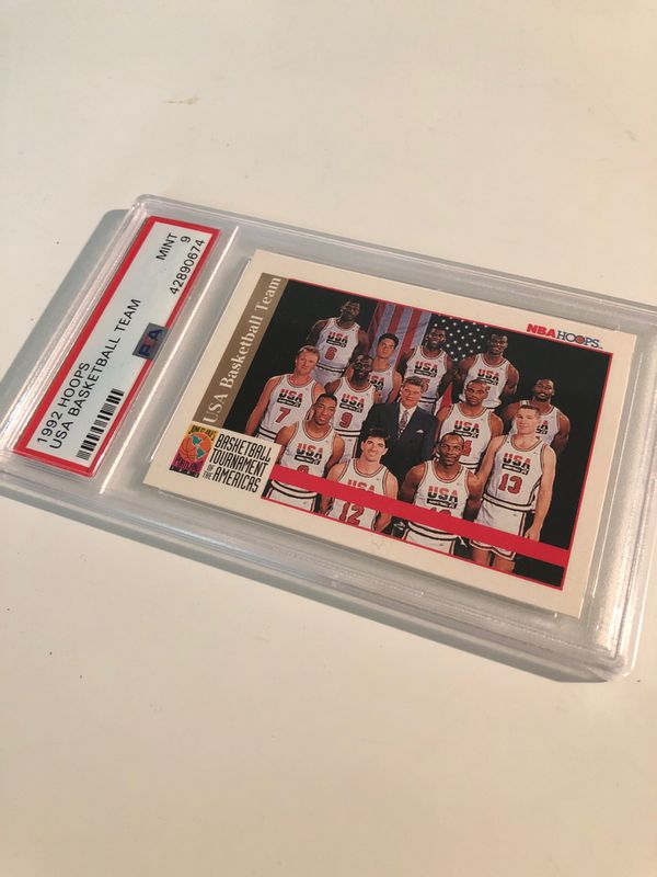 Team USA Graded PSA Card 9 Michael jordan Ewing Malone pippen Barkley drexler Bird magic