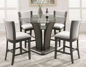 Camelia Gray Glass-Top Counter Height Dining Set for Sale in Jessup, MD