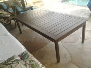 6ft x3 ft x 18in tall coffee wood table pool deck patio or porch outdoor furniture for Sale in Pompano Beach, FL