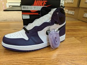 Nike Air Jordan 1 Court Purple Men Size 9.5, GS Size 4.5, 6.5, 7 for Sale in Cleveland, OH