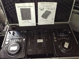 American audio CDI 500 Q-D5 pro DJ equipment with case for Sale in Portland, OR