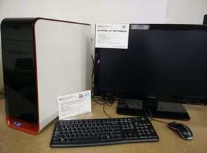 "Computer Set Dell Studio XPS 9100 i7 @ 2.80GHz 12GB RAM 750 GB HDD nVidia Geforce GT520 Windows 10 Pro and Viewsonic 27"" monitor for Sale in Las Vegas, NV"