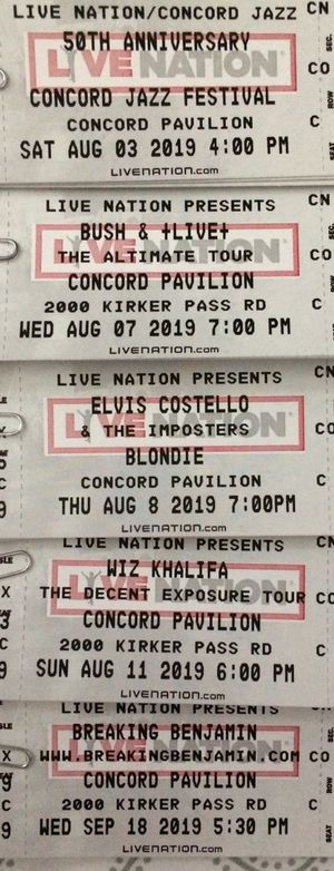 Concert Tickets Concord Pavilion for Sale in Concord, CA