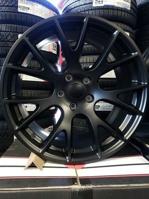 "20"" wheels 20x9.5 5x127 +34 Hell Cat Replica Satin Black Jeep Cherokee Dodge Durango RT SXT Tires Available FINANCING Available OAC 100-day for Sale in Bellflower, CA"