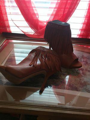 Miranda Lambert brown high heels fringed for Sale in Dallas, TX