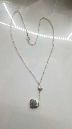Tiffany&co Sterling silver dangle heart necklace for Sale in Lincoln Park, MI