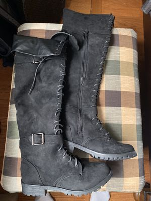 Black thigh high boots for Sale in South Amboy, NJ