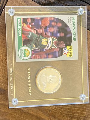 Shawn Kemp Rookie Card and .999 Silver 1oz for Sale in Mesa, AZ