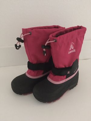 Kids Kamik Snow Boots - Size 12 - Excellent Condition for Sale in San Rafael, CA