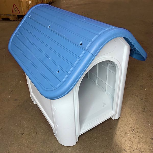 """(NEW) $45 Plastic Dog House Small/Medium Pet Indoor Outdoor All Weather Shelter Cage Kennel 30x23x26"""""""