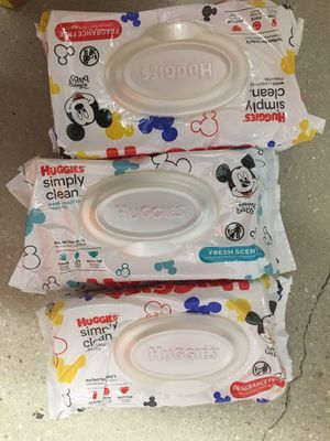 Huggies and pampers wipes for Sale in Miami, FL
