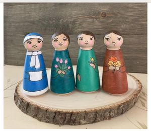 Organic Wooden Peg Dolls//Four Seasons// Eco-Friendly Kids Toys for Sale in Kirkland, WA