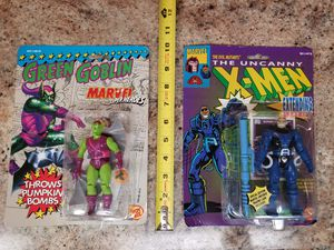 Lot of (2) NEW X-Men Marvel vintage 1991 Toybiz collectible action figures Green Goblin & Apocalypse for Sale in Guadalupe, AZ