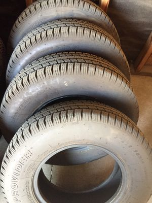 """Used trailer tires 14""""($40 each) $160 for 4 tires for Sale in Bakersfield, CA"""