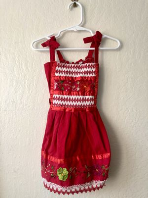 Red dress from Mexico size 2T for Sale in Cerritos, CA