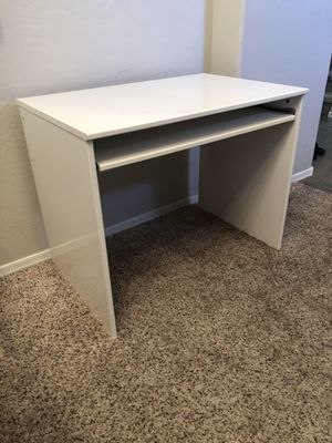 White desk with sliding keyboard tray for Sale in Gilbert, AZ