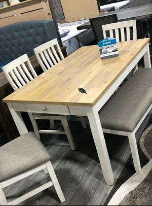 $39 DOWN❗BEST Deal 🛬 Nina White Dining Set 140 for Sale in Jessup, MD