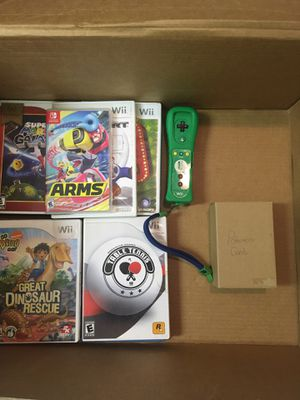 Nintendo Games: Includes Wii U games Wii Games Nintendo switch games green wii remote and Pokémon cards for Sale in Woodbridge, VA