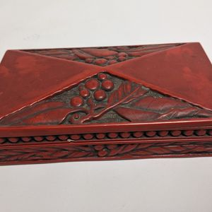 Small Red Ornate Wooden Trinket Box for Sale in Camp Pendleton North, CA