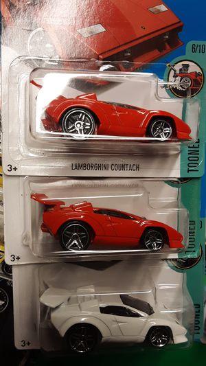 3 HOTWHEELS LAMBORGHINI COUNTACH LOT for Sale in Fresno, CA