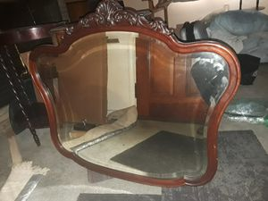Antique silverbacked mirror w/frame for Sale in Pittsburgh, PA