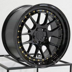 18x8.5 ot 9.5 new nlk 5x114.3 new rims tires set for Sale in Hayward, CA
