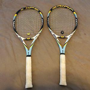 2 Wilson BLX pro Juice tennis rackets for Sale in Orlando, FL