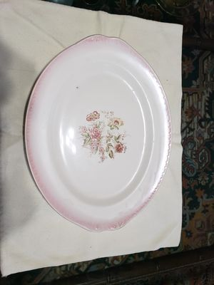 Antique serving tray with pink outline for Sale in Adkins, TX