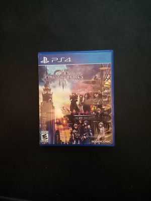 Kingdom Hearts 3 PS4 Box Included for Sale in Houston, TX