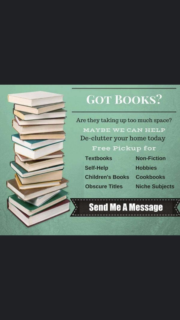 BOOKS. Helping you downsize!!