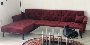 RED SOFA/SOFA BED for Sale in North Miami Beach, FL