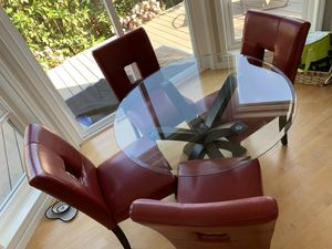 Kitchen table & red chairs for Sale in Foster City, CA