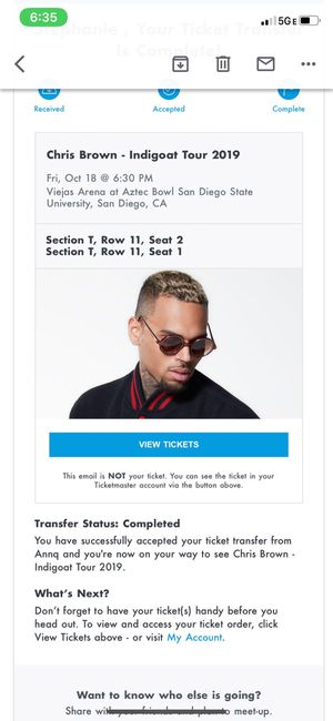 Chris Brown Concert tickets for Sale in San Diego, CA