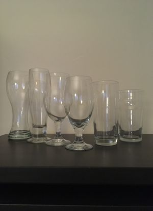 6x Beer glass collection for Sale in Long Beach, CA